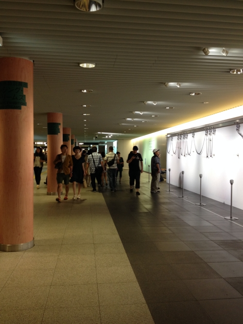 500-metre-long underground walkways, Chikaho, where Senseless Drawings are being installed.